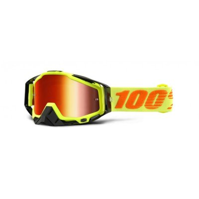 100% Racecraft Attack Yellow ajolasit