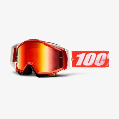 100% Racecraft Fire Red ajolasit