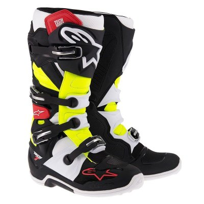 Crossisaappaat Alpinestars Tech 7 musta/puna/kelt