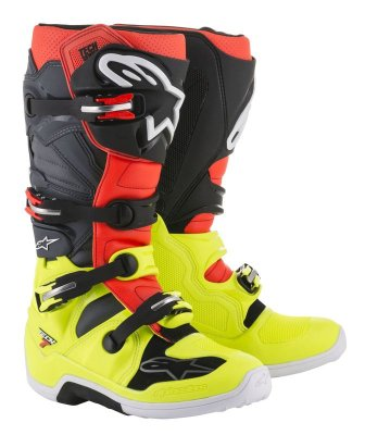 Crossisaappaat Alpinestars Tech 7 kelt/pun/musta