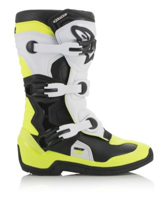 Crossisaappaat Alpinestars Tech 3S Junior musta/valk/fl.kelt