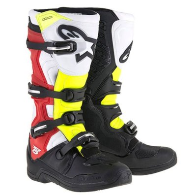 Crossisaappaat Alpinestars Tech 5 musta/valk/puna/kelt