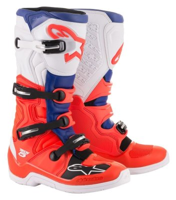 Crossisaappaat Alpinestars Tech 5 valk/pun/sin