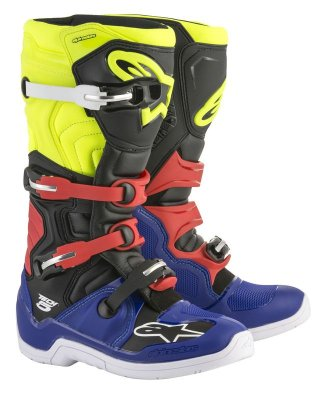 Crossisaappaat Alpinestars Tech 5 sini/musta/fl.pun/kel