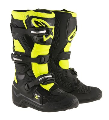 Crossisaappaat Alpinestars Tech 7S Junior musta/fl.kelt