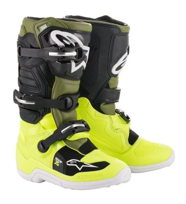 Crossisaappaat Alpinestars Tech 7S Junior fl.kelt/armyvihreä