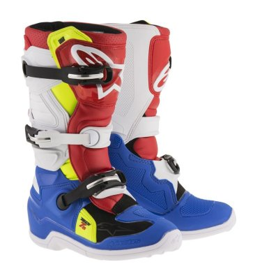 Crossisaappaat Alpinestars Tech 7S Junior sin/valk/pun/fl.kelt